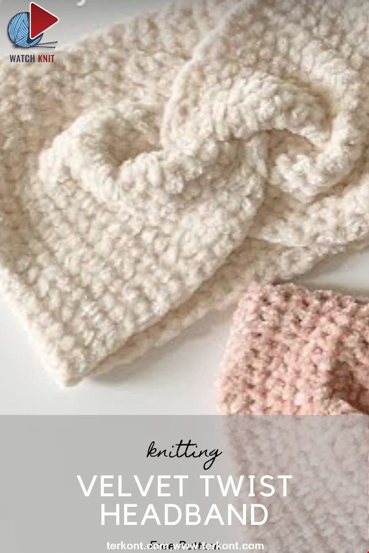 Easy Crochet Velvet Twist Headband