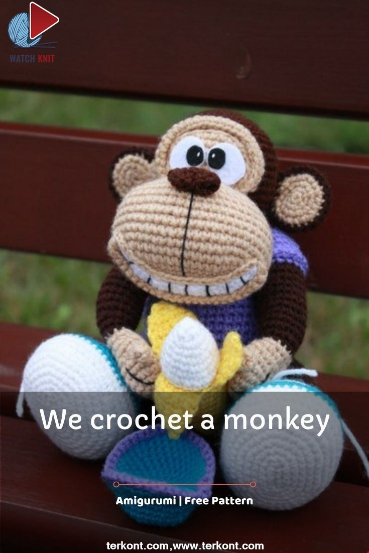 We crochet a monkey