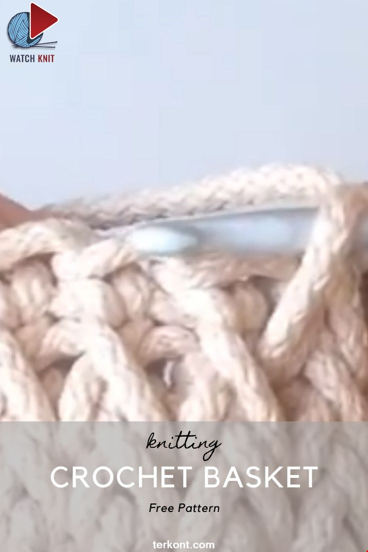 Amazing Crochet Basket Video Tutorial