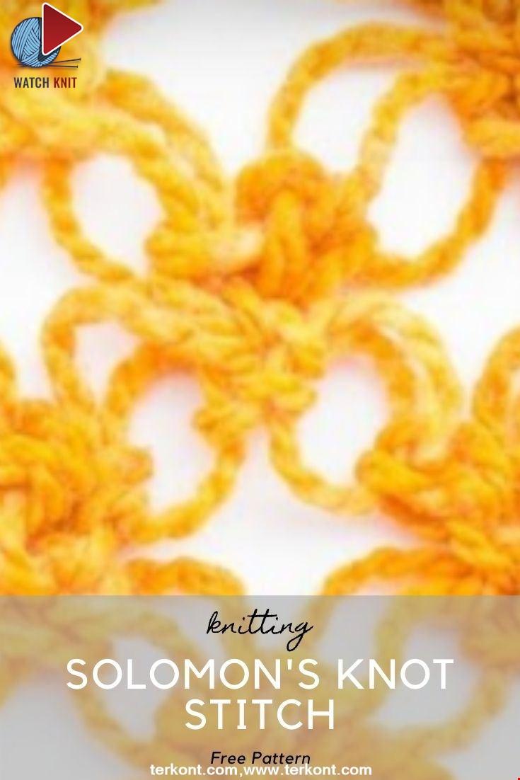 How to Crochet Solomon's Knot Stitch
