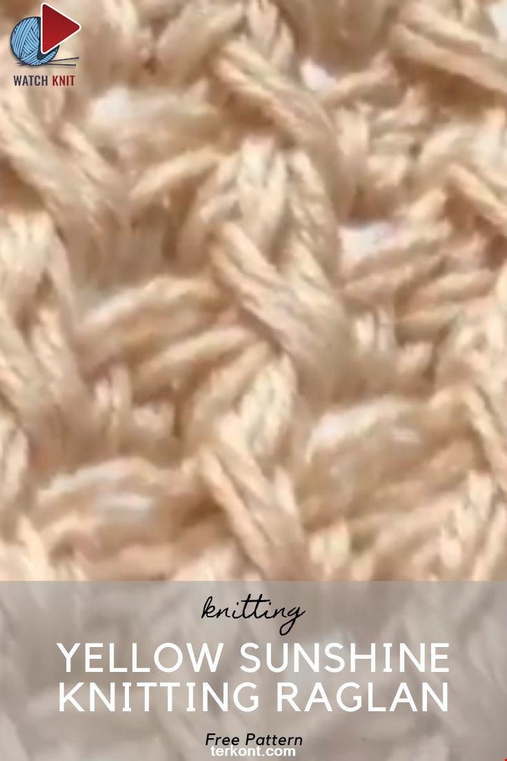 Yellow Sunshine Knitting Raglan