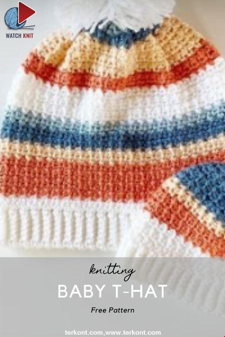 Crochet Baby T Hat