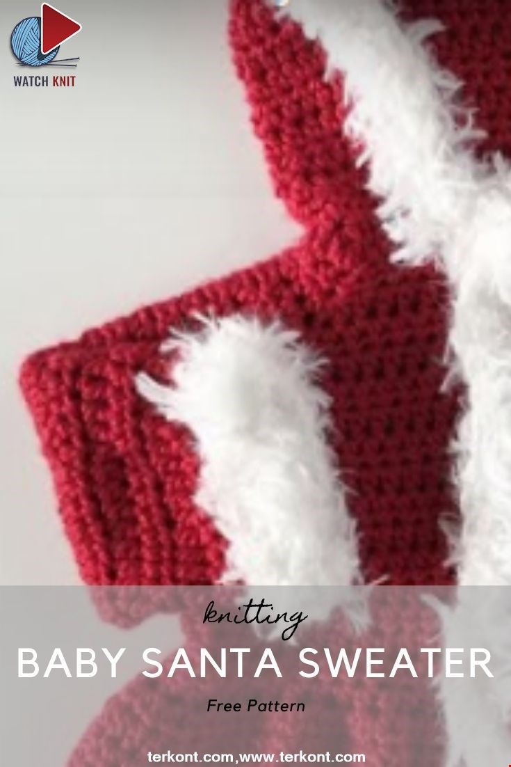 Crochet Baby Santa Sweater: Making the Armhole