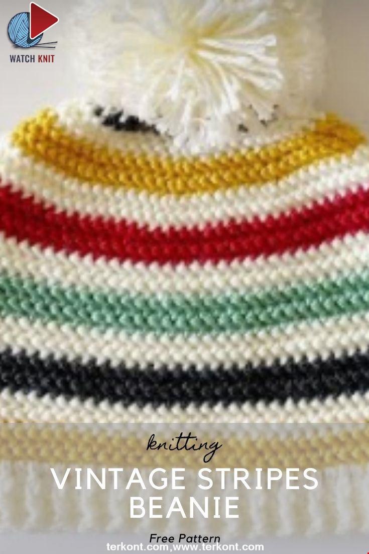 Vintage Stripes Beanie Hat