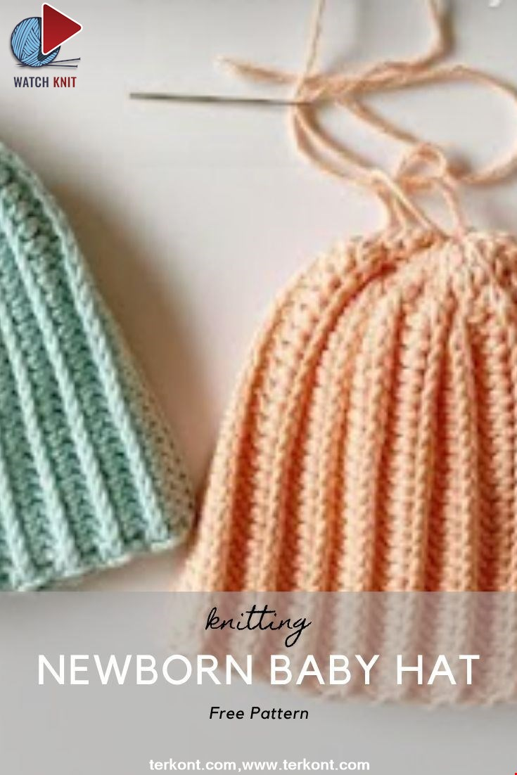 Crochet Newborn Baby Hat for Beginners