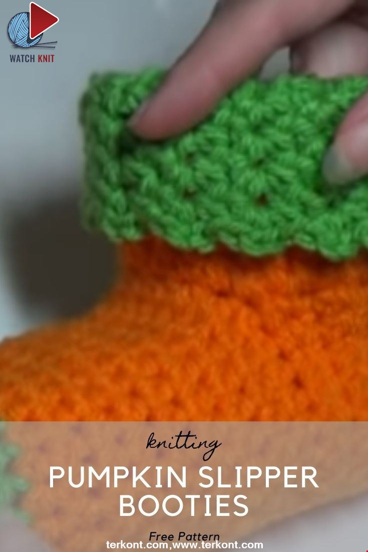 New Crocheted Pumpkin Slipper Booties Quick and Easy