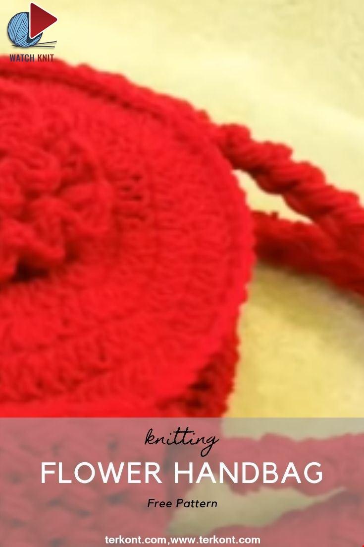Easy Crochet Flower Handbag