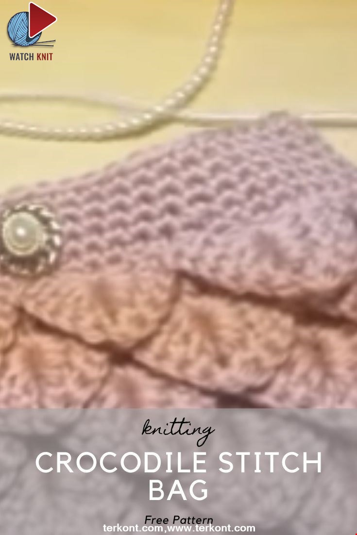 Crochet Crocodile stitch Bag