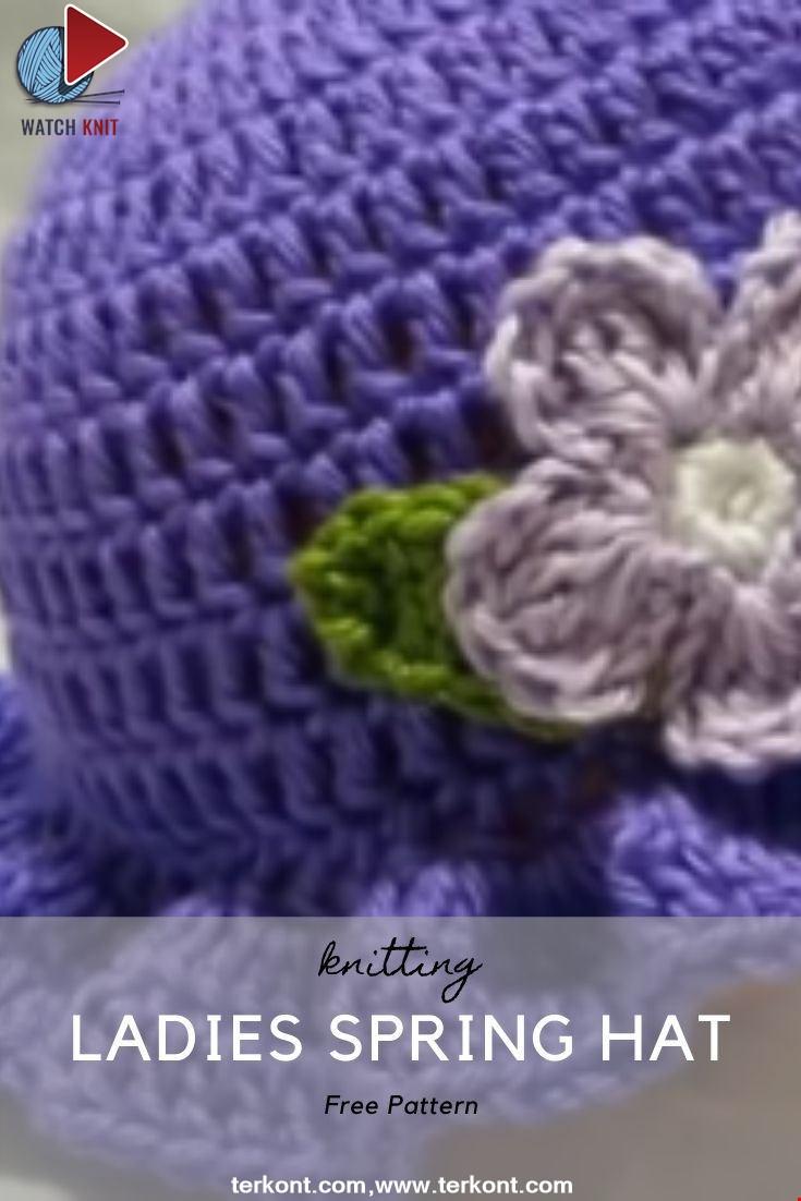 Crochet Easy Ladies Spring Hat