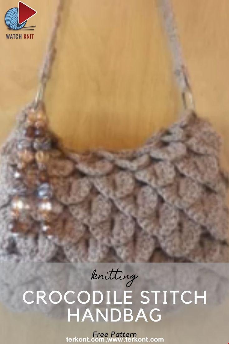 Crocodile Stitch Handbag