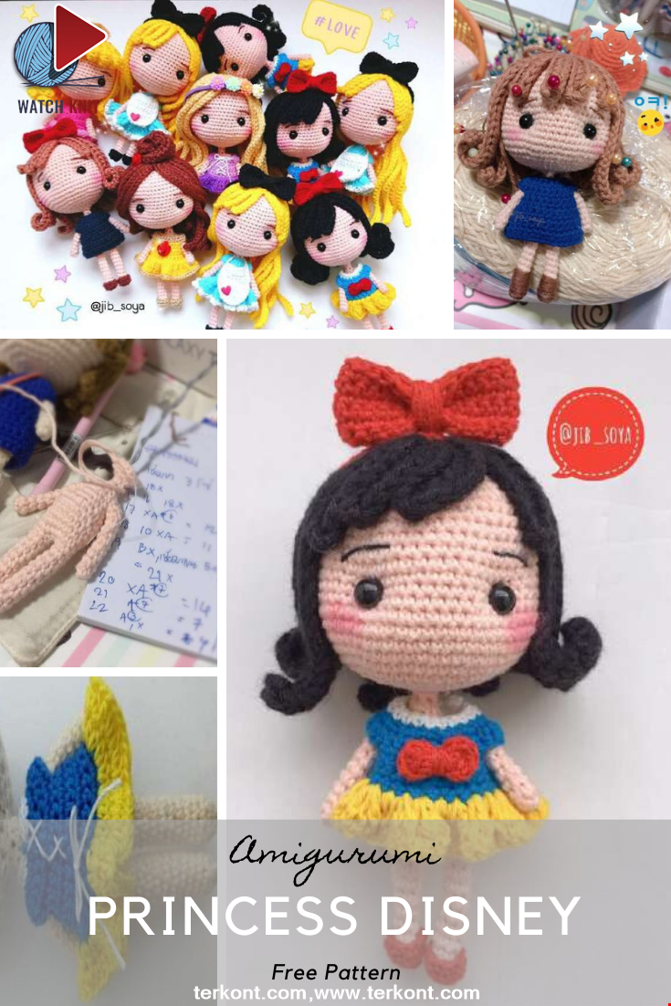 Princess Disney Amigurumi Pattern