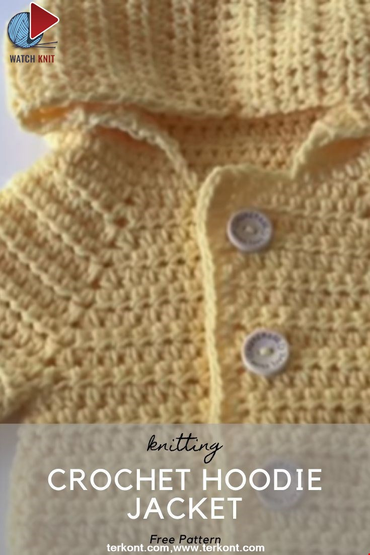 Crochet Hoodie Jacket