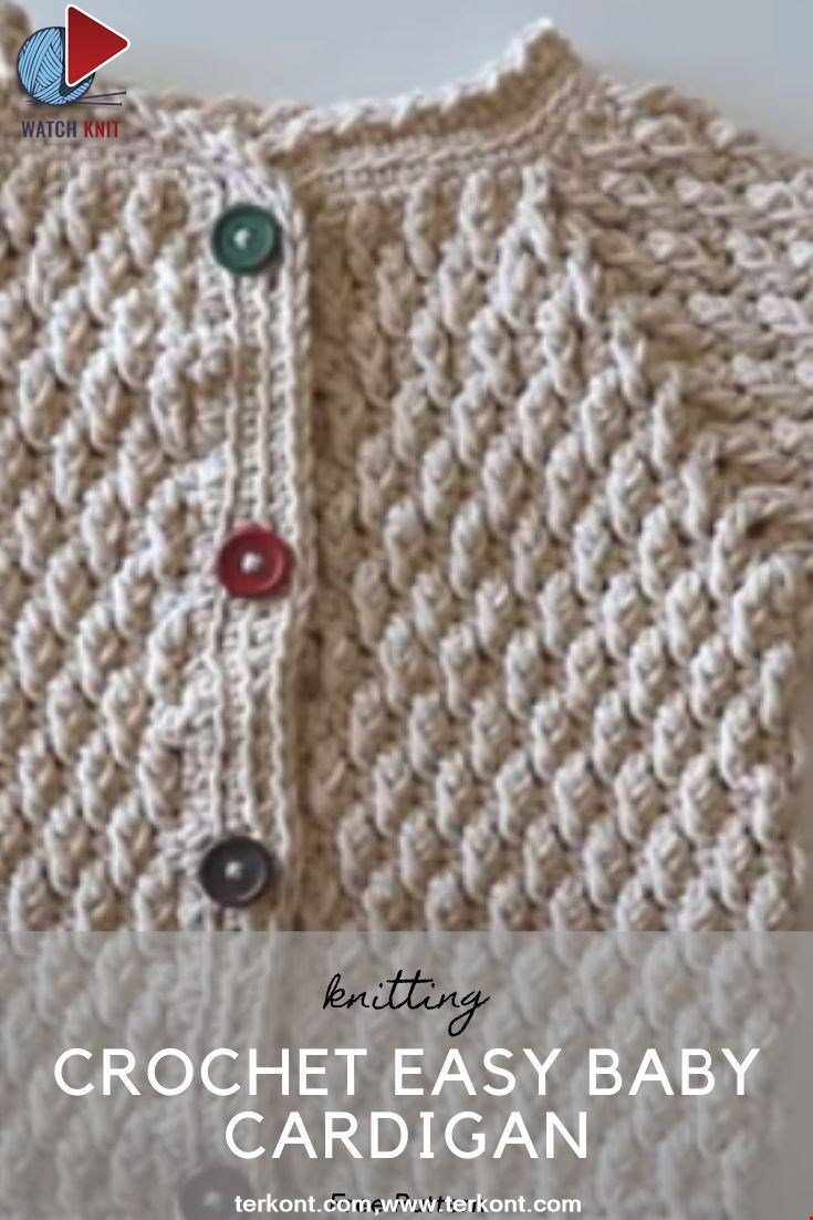 Crochet Easy Baby Cardigan