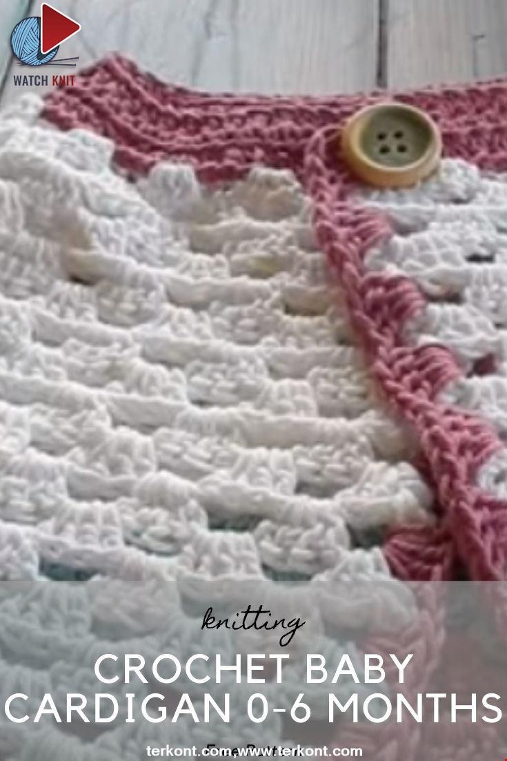 Crochet Baby Cardigan 0-6 Months