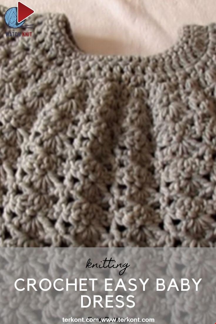 Crochet Easy Baby Dress