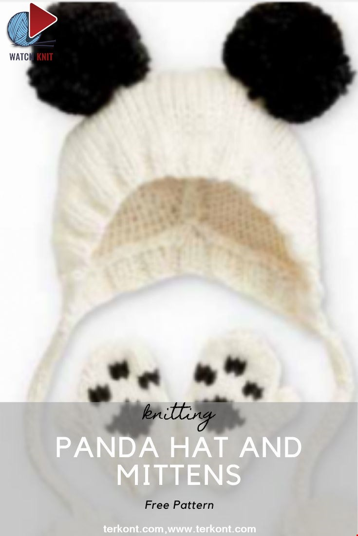 Panda Hat and Mittens