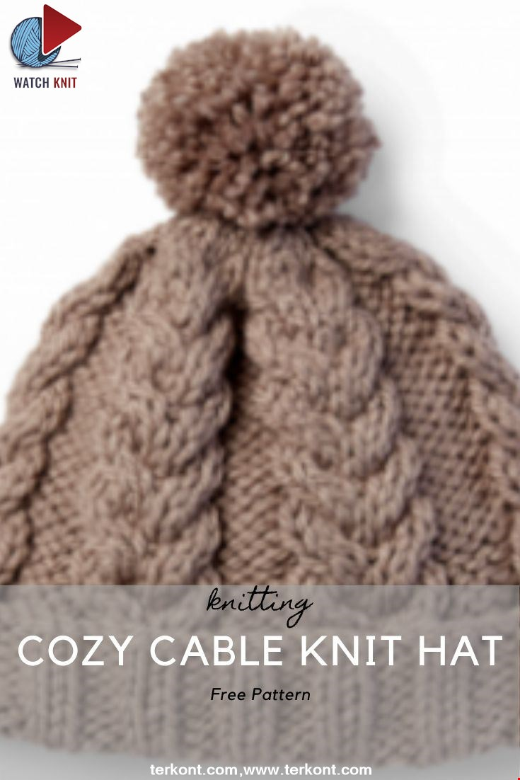 COZY CABLE KNIT HAT