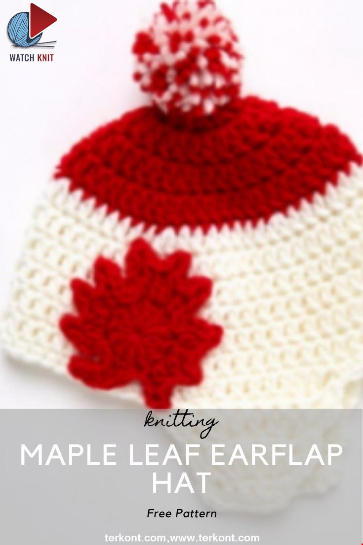 Maple Leaf Earflap Hat