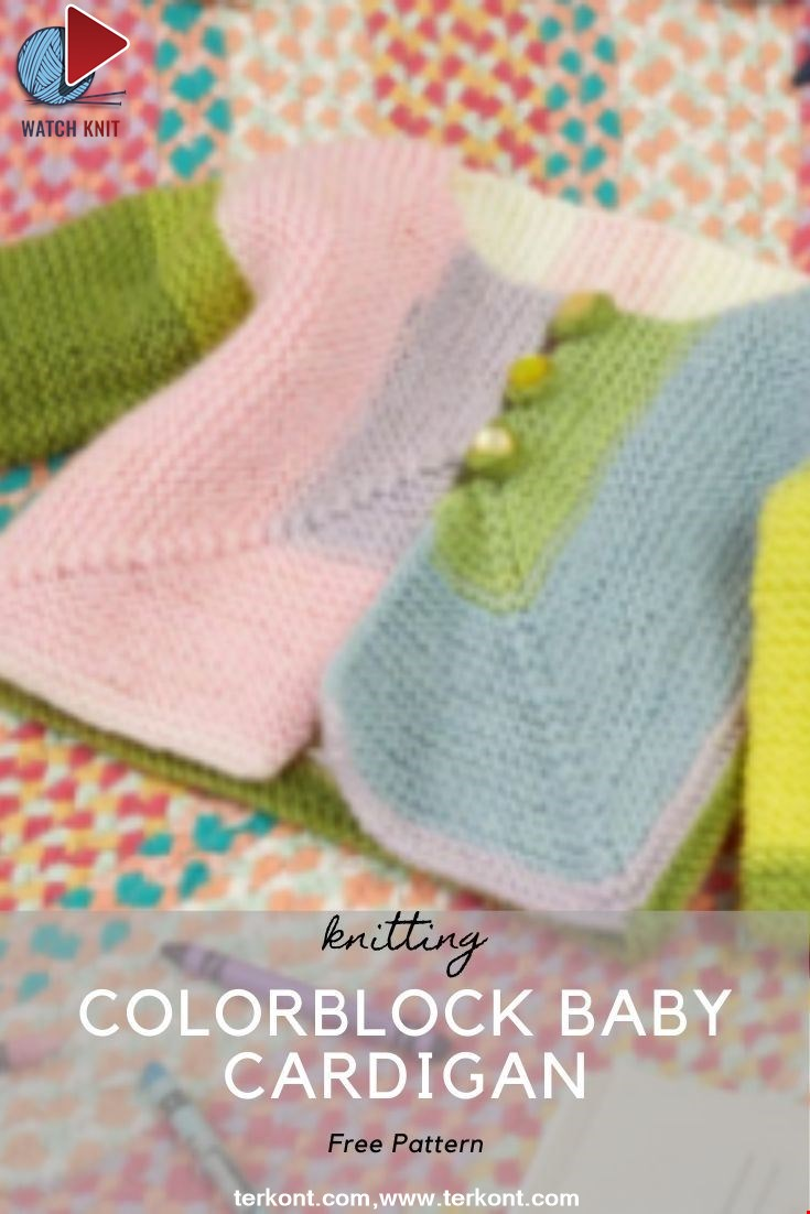 Colorblock Baby Cardigan
