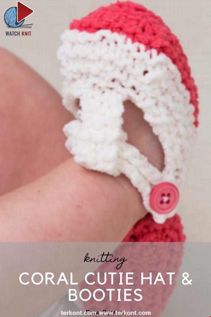 Coral Cutie Hat & Booties