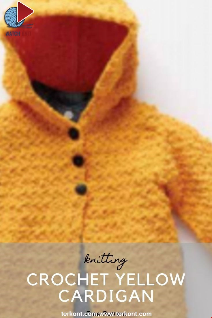 Crochet Yellow Cardigan