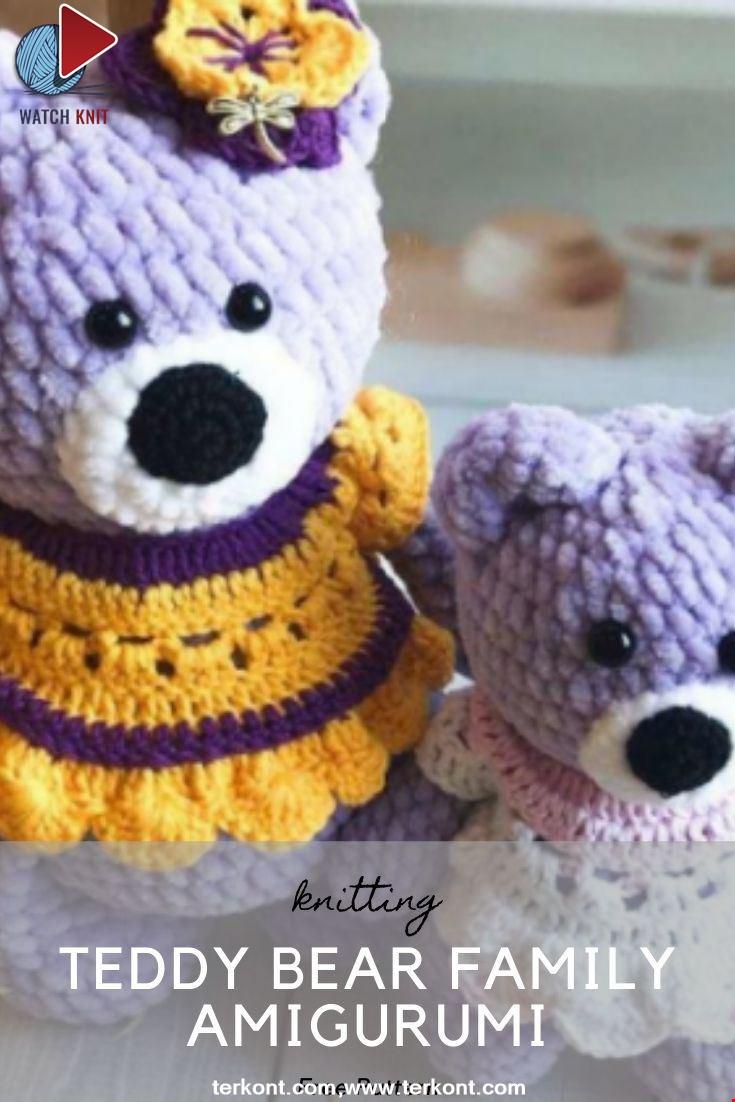 Teddy Bear Family Amigurumi