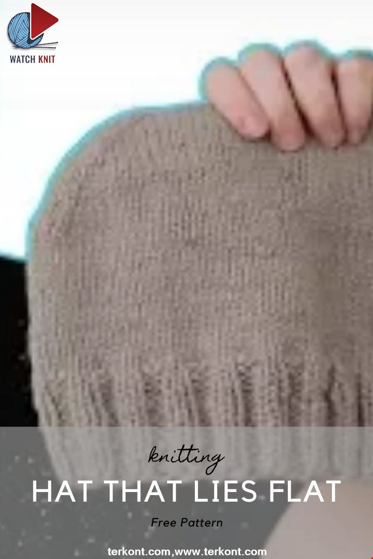 How to Knit a Hat that Lies Flat