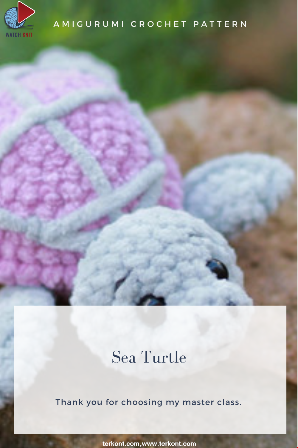 Amigurumi Sea Turtle Crochet Pattern