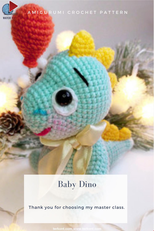 Amigurumi Baby Dino Crochet Pattern
