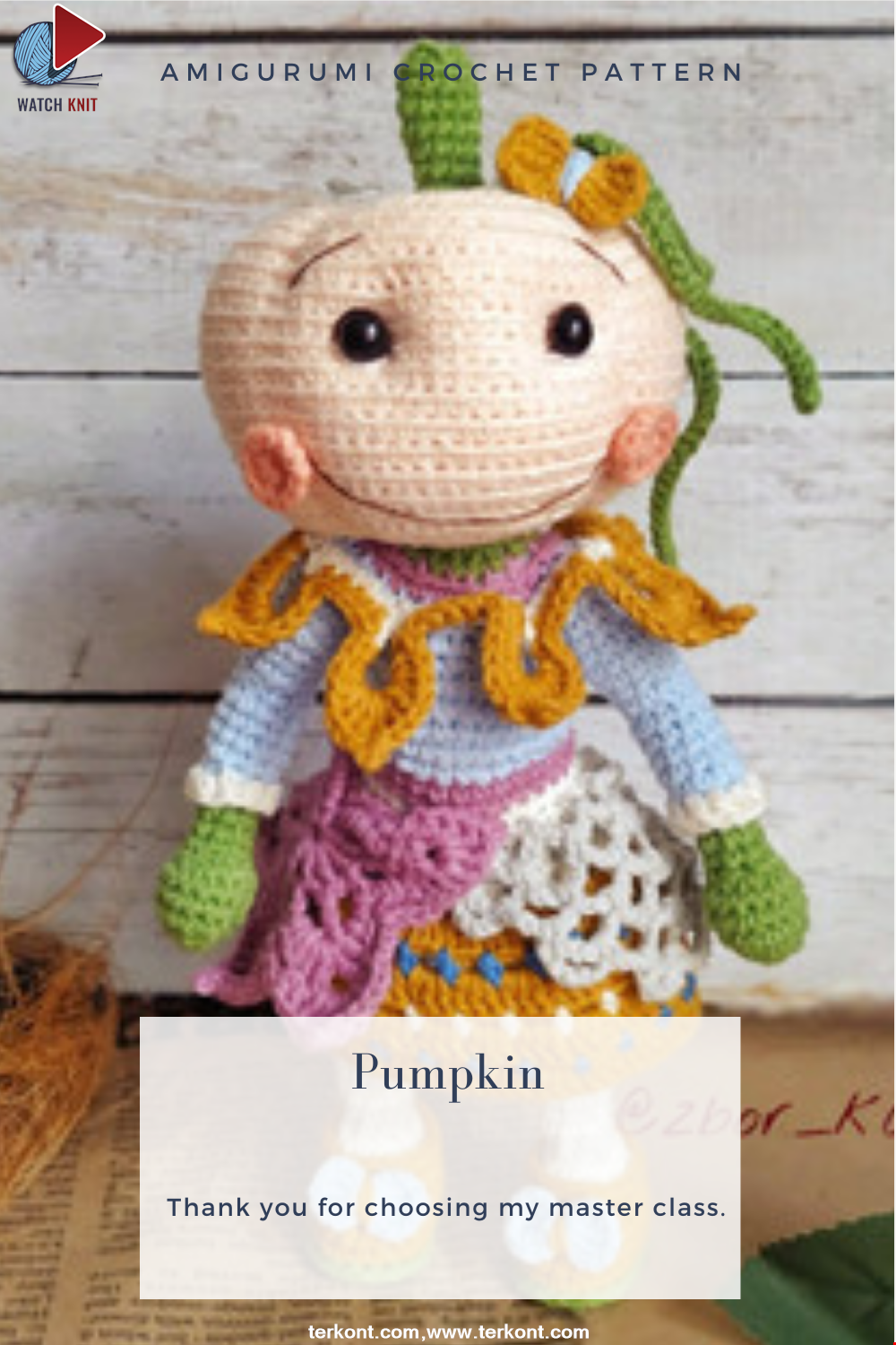 Amigurumi Pumpkin Toy Crochet Pattern