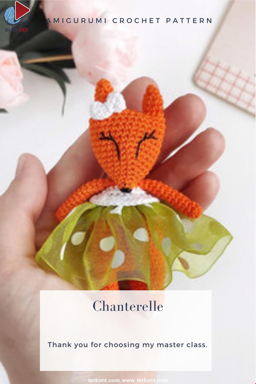 Amigurumi Chanterelle Crochet Pattern