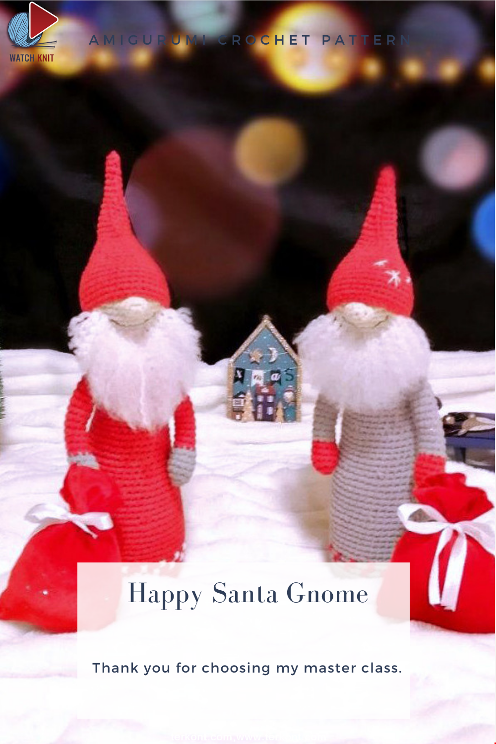 Amigurumi Happy Santa Gnome Crochet Pattern