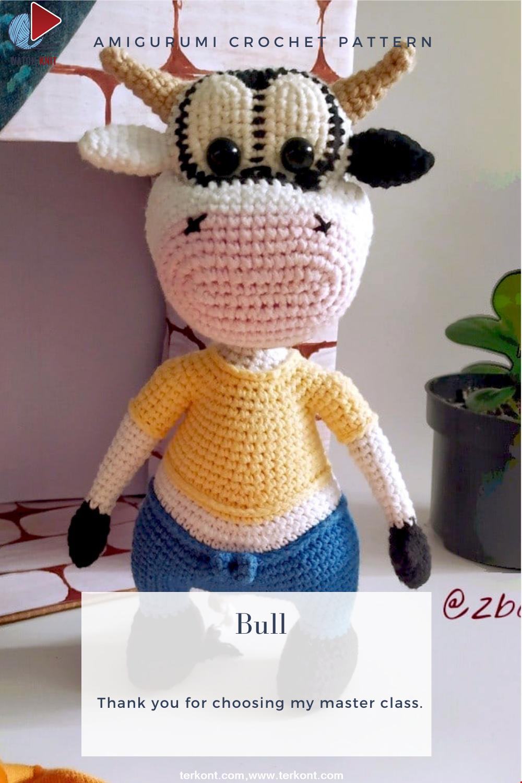 Amigurumi Cute Bull Crochet Pattern