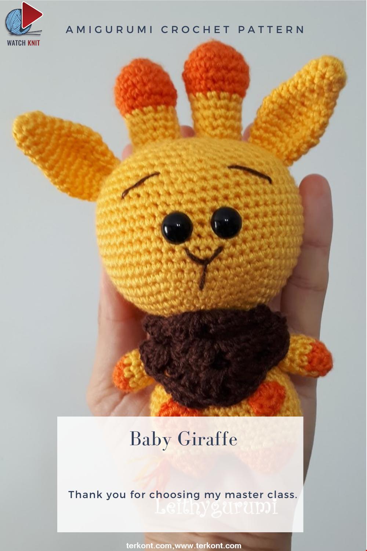 Amigurumi Baby Giraffe Crochet Pattern